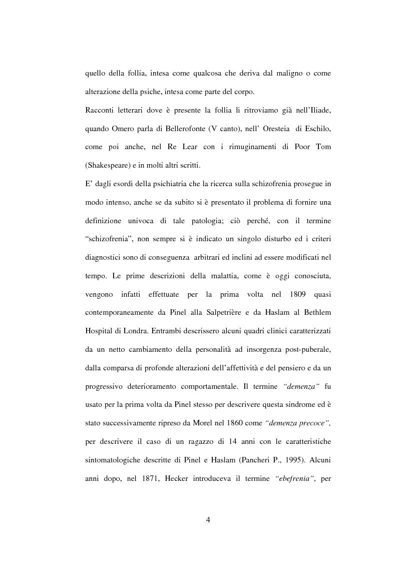 Anteprima della tesi: Esiti dell'esordio schizofrenico. Uno studio di follow-up a 5 anni nel Servizio Pubblico, Pagina 2