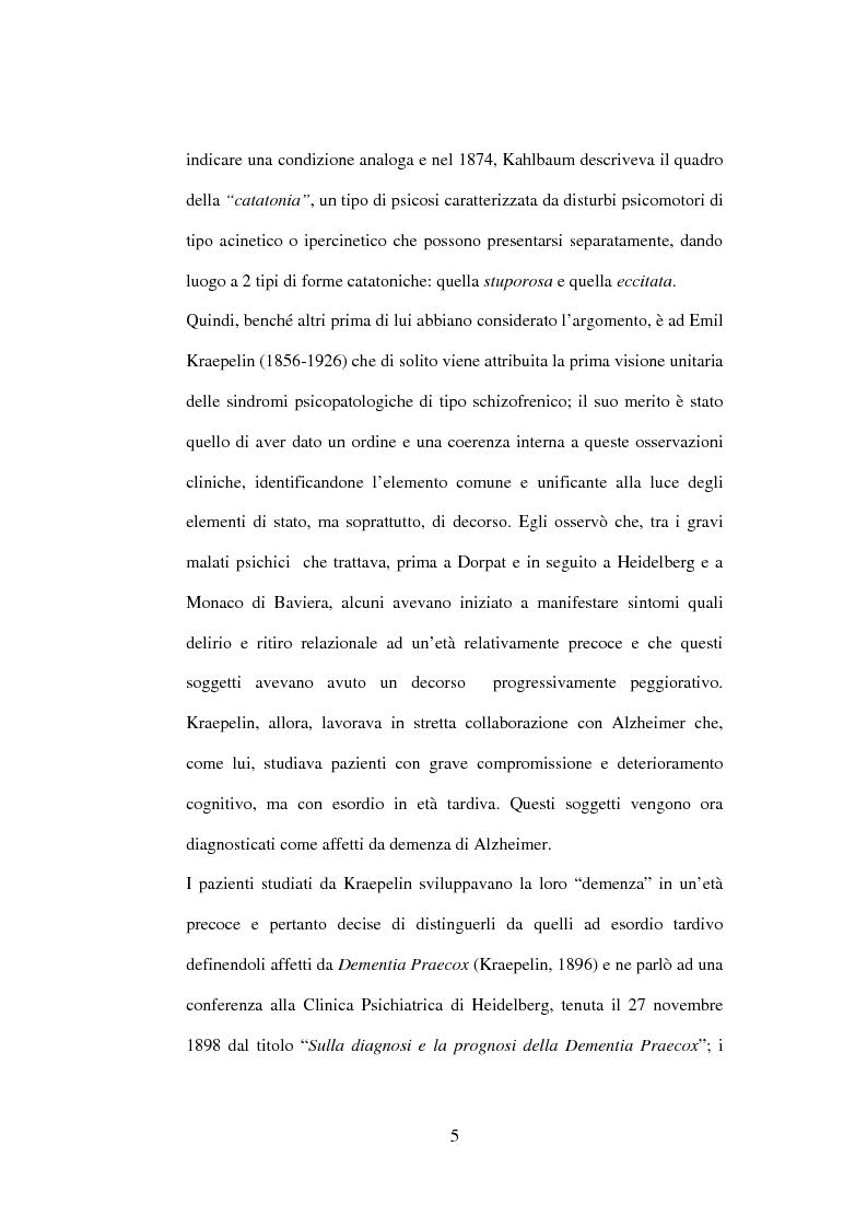 Anteprima della tesi: Esiti dell'esordio schizofrenico. Uno studio di follow-up a 5 anni nel Servizio Pubblico, Pagina 3