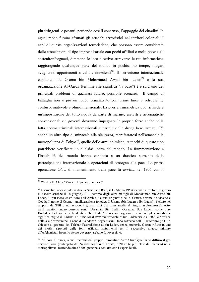 Anteprima della tesi: I Cambiamenti nelle forme della guerra e le Forze Speciali, Pagina 13