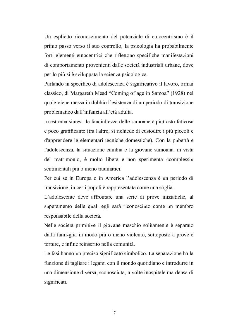 Anteprima della tesi: Dinamiche psicologiche di costruzione dell'identità in soggetti immigrati di seconda generazione, Pagina 5