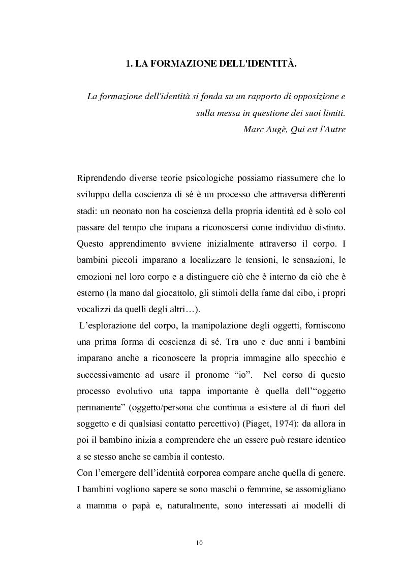 Anteprima della tesi: Dinamiche psicologiche di costruzione dell'identità in soggetti immigrati di seconda generazione, Pagina 8