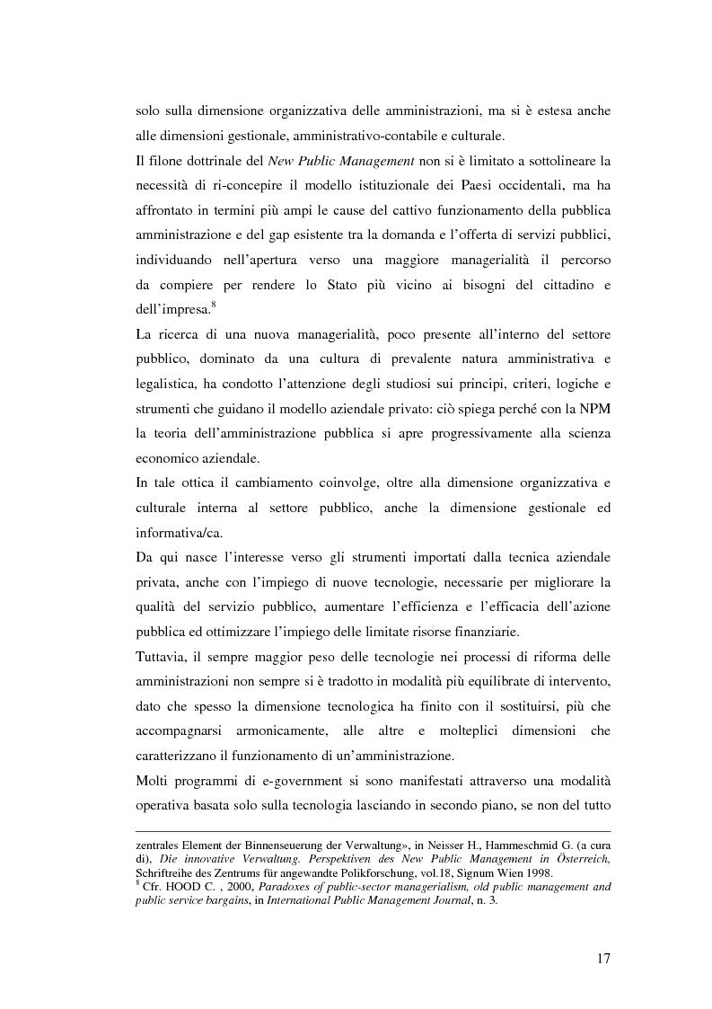 Anteprima della tesi: Il processo di sviluppo dell'E-government: il caso E-mountain Lazio, Pagina 10