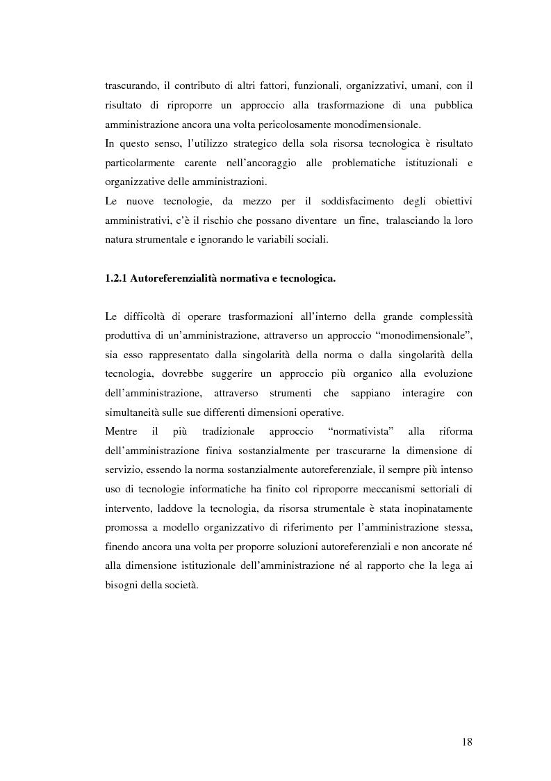 Anteprima della tesi: Il processo di sviluppo dell'E-government: il caso E-mountain Lazio, Pagina 11
