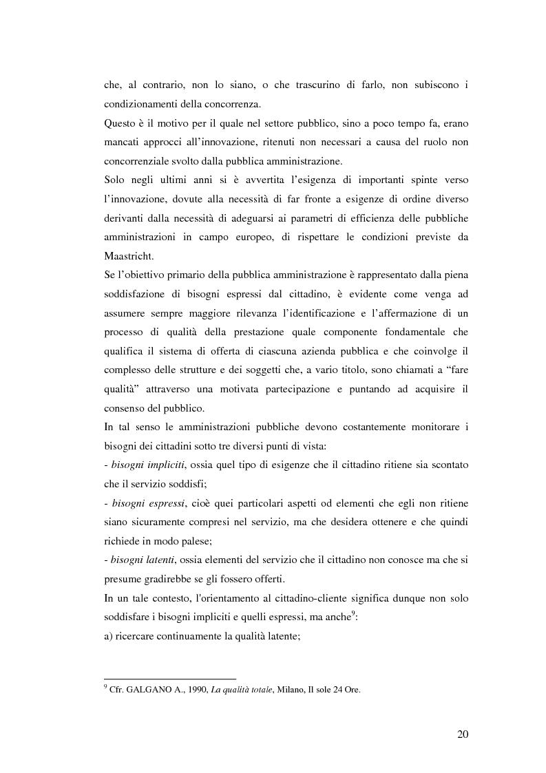Anteprima della tesi: Il processo di sviluppo dell'E-government: il caso E-mountain Lazio, Pagina 13