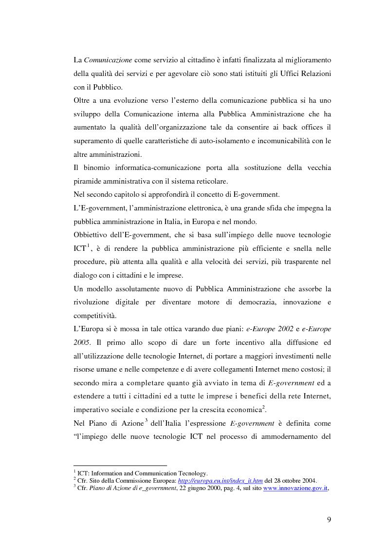 Anteprima della tesi: Il processo di sviluppo dell'E-government: il caso E-mountain Lazio, Pagina 2