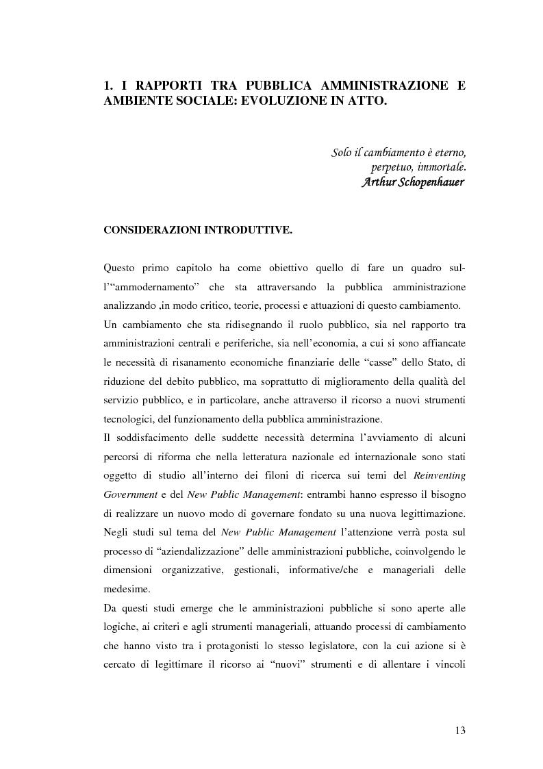 Anteprima della tesi: Il processo di sviluppo dell'E-government: il caso E-mountain Lazio, Pagina 6