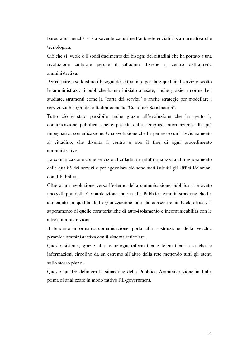 Anteprima della tesi: Il processo di sviluppo dell'E-government: il caso E-mountain Lazio, Pagina 7
