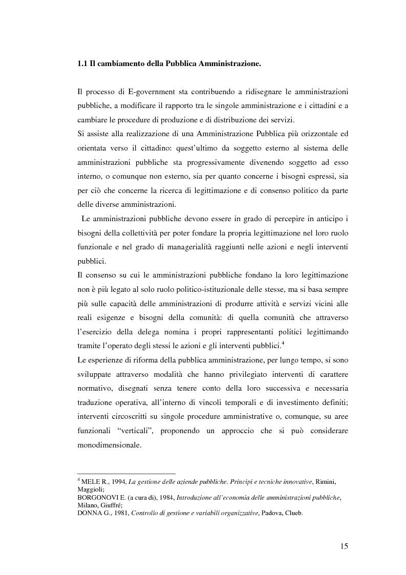 Anteprima della tesi: Il processo di sviluppo dell'E-government: il caso E-mountain Lazio, Pagina 8