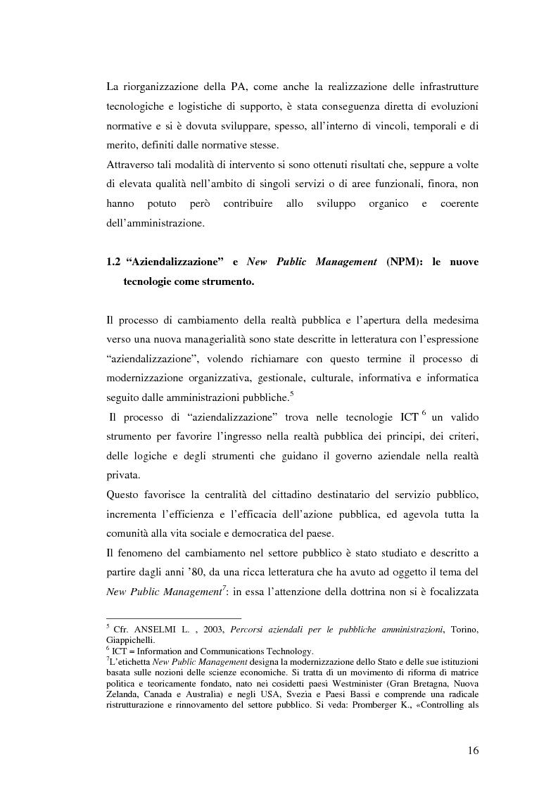 Anteprima della tesi: Il processo di sviluppo dell'E-government: il caso E-mountain Lazio, Pagina 9