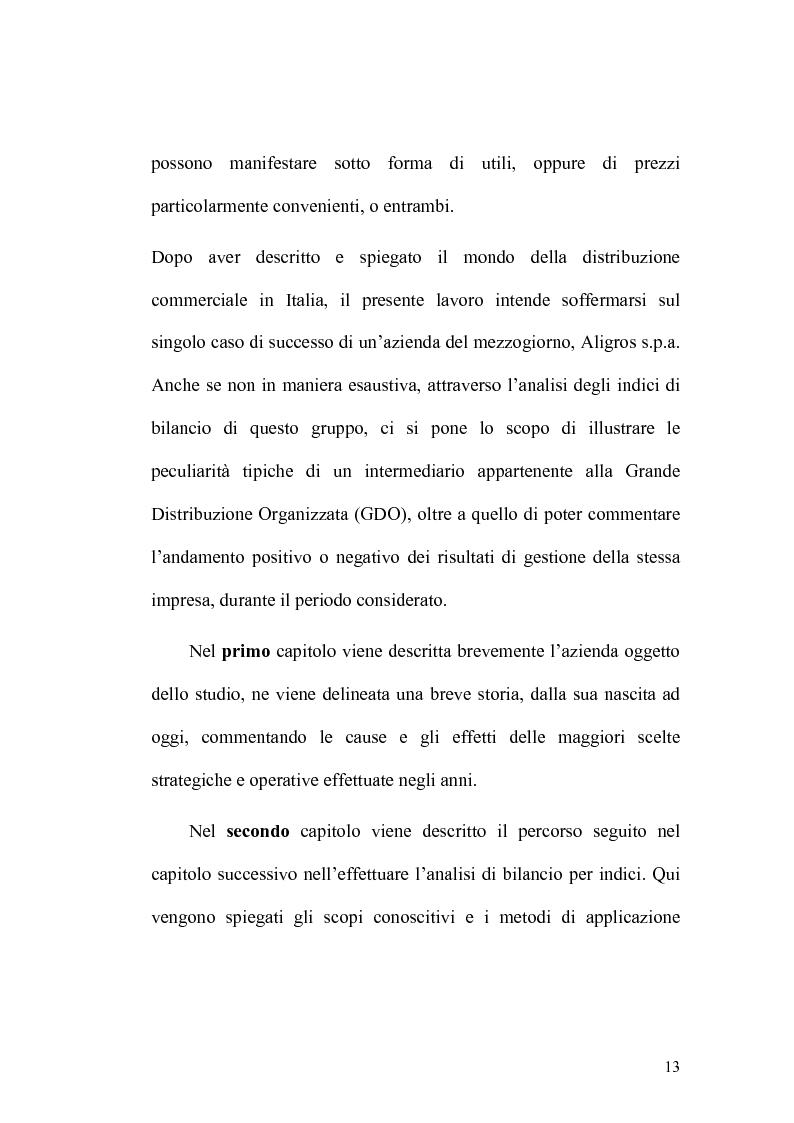 Anteprima della tesi: Analisi economico-finanziaria di un'azienda della grande distribuzione organizzata: Aligros SpA, Pagina 11