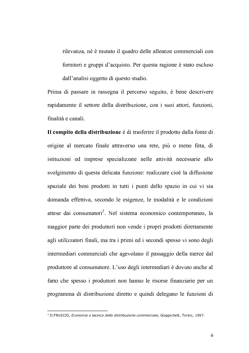 Anteprima della tesi: Analisi economico-finanziaria di un'azienda della grande distribuzione organizzata: Aligros SpA, Pagina 4