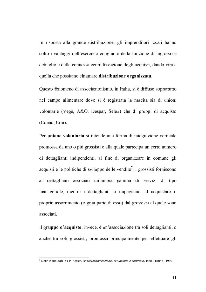 Anteprima della tesi: Analisi economico-finanziaria di un'azienda della grande distribuzione organizzata: Aligros SpA, Pagina 9