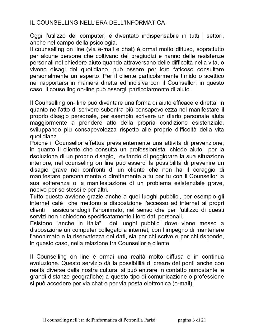 Anteprima della tesi: Il counselling nell'era dell'informatica, Pagina 2