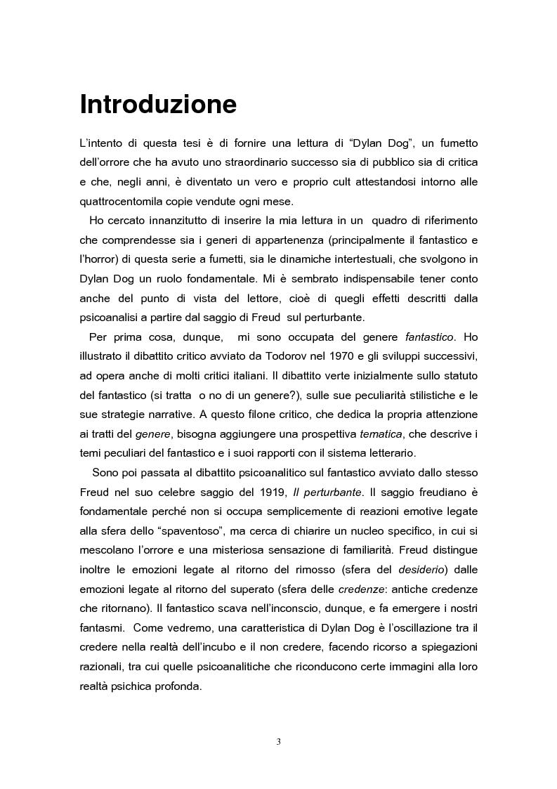 Anteprima della tesi: Una lettura di Dylan Dog, Pagina 1