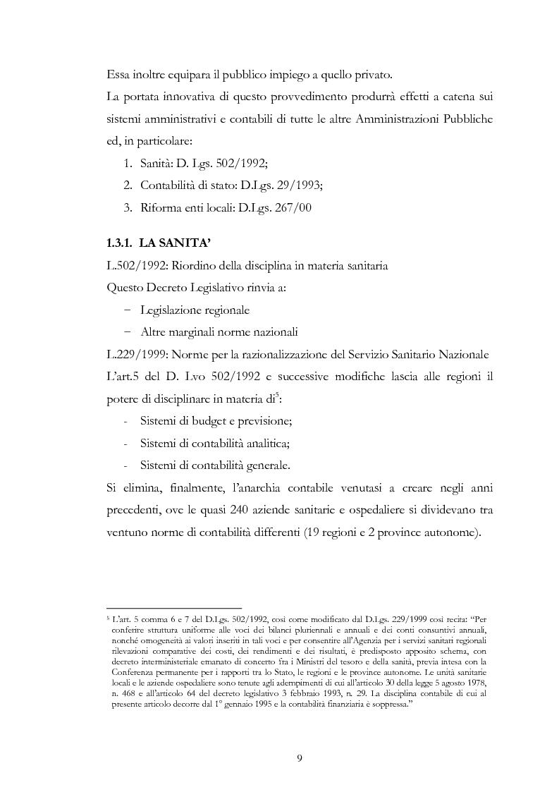 Anteprima della tesi: I principi contabili negli enti locali. Confronto con i principi contabili nazionali ed internazionali nel settore privato., Pagina 3