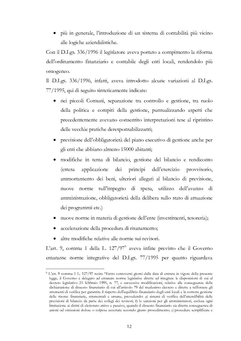 Anteprima della tesi: I principi contabili negli enti locali. Confronto con i principi contabili nazionali ed internazionali nel settore privato., Pagina 6