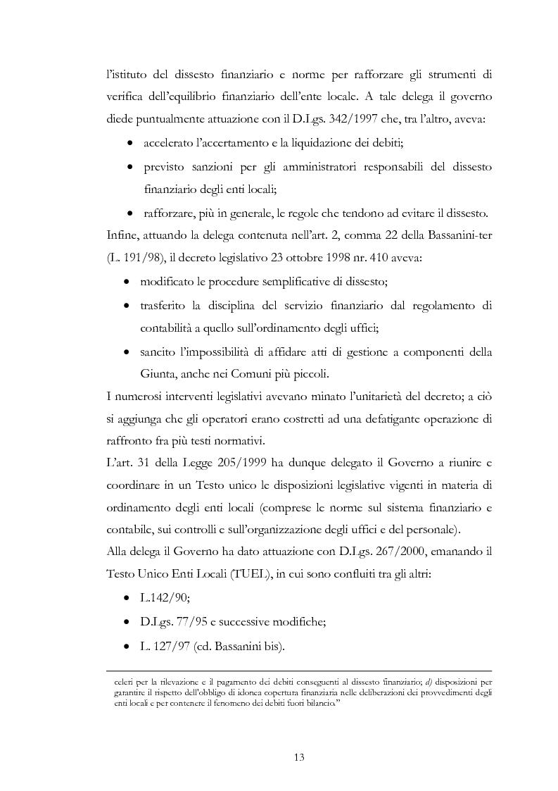 Anteprima della tesi: I principi contabili negli enti locali. Confronto con i principi contabili nazionali ed internazionali nel settore privato., Pagina 7