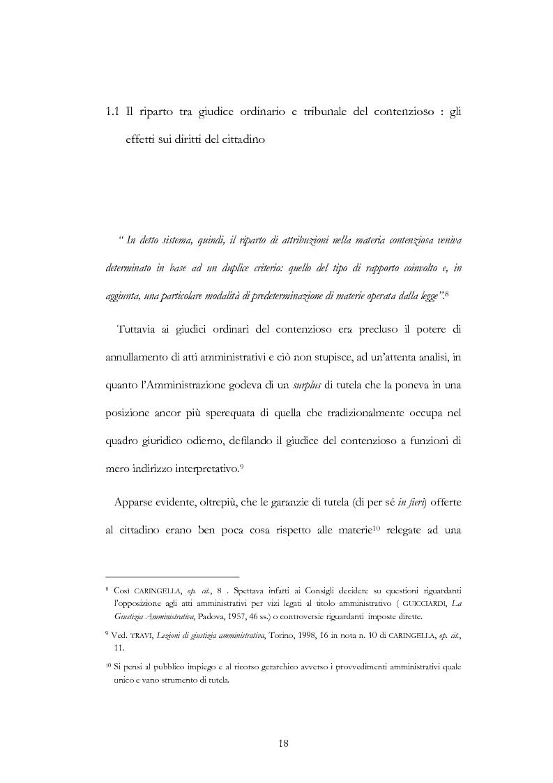 Anteprima della tesi: I nuovi ambiti della giurisdizione esclusiva e la ''materia'' dei servizi pubblici, Pagina 4