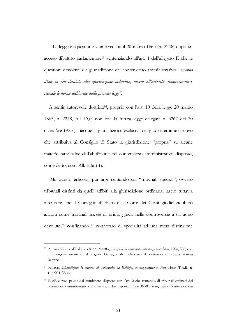 Anteprima della tesi: I nuovi ambiti della giurisdizione esclusiva e la ''materia'' dei servizi pubblici, Pagina 7