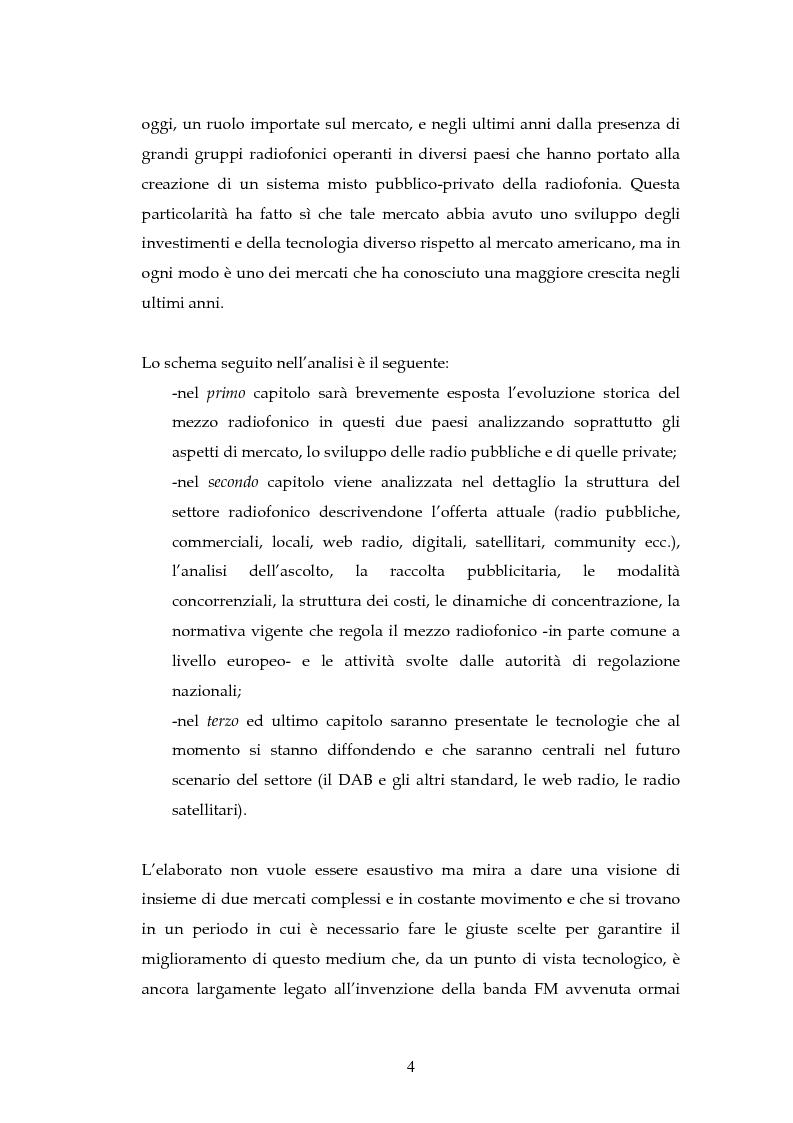 Anteprima della tesi: La radio in Europa: dinamiche del settore in Francia e in Gran Bretagna, Pagina 2