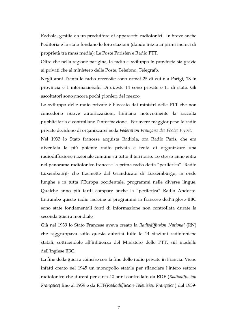 Anteprima della tesi: La radio in Europa: dinamiche del settore in Francia e in Gran Bretagna, Pagina 5