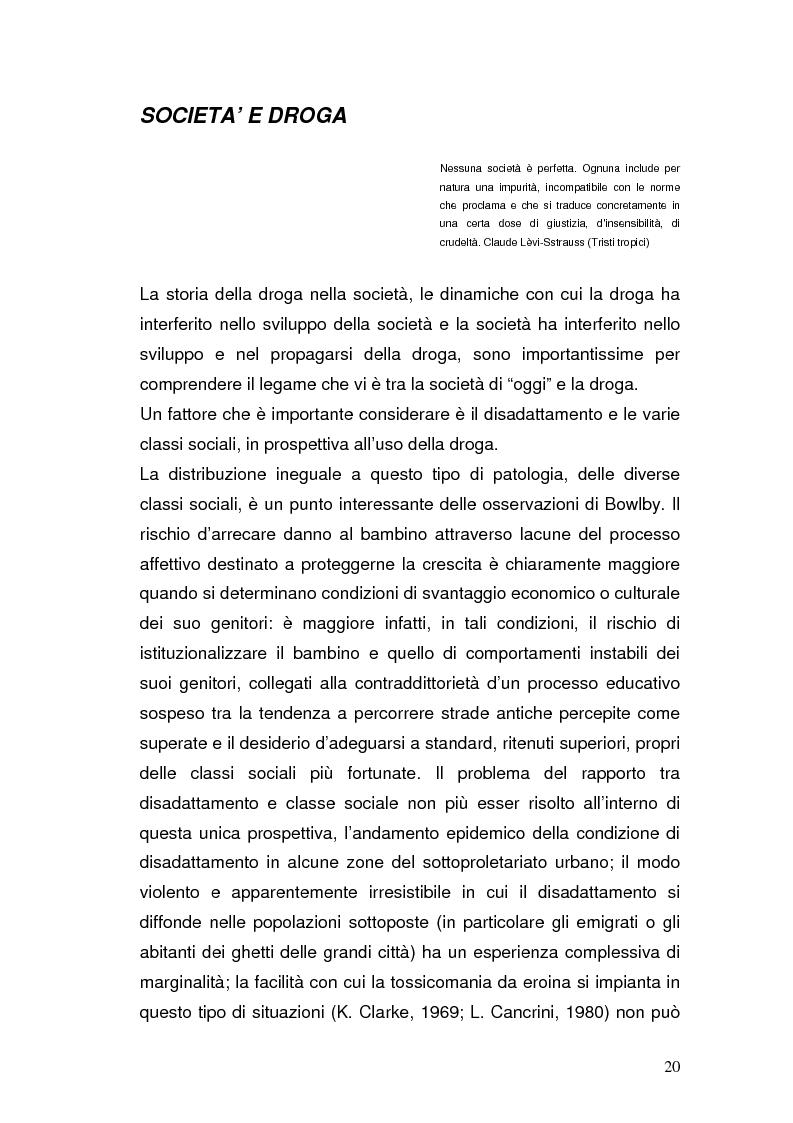 Estratto dalla tesi: Somatizzazione di ansia e depressione nella eziopatogenesi della doppia diagnosi