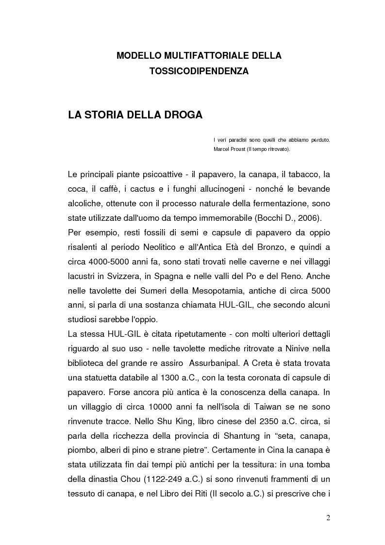 Anteprima della tesi: Somatizzazione di ansia e depressione nella eziopatogenesi della doppia diagnosi, Pagina 1
