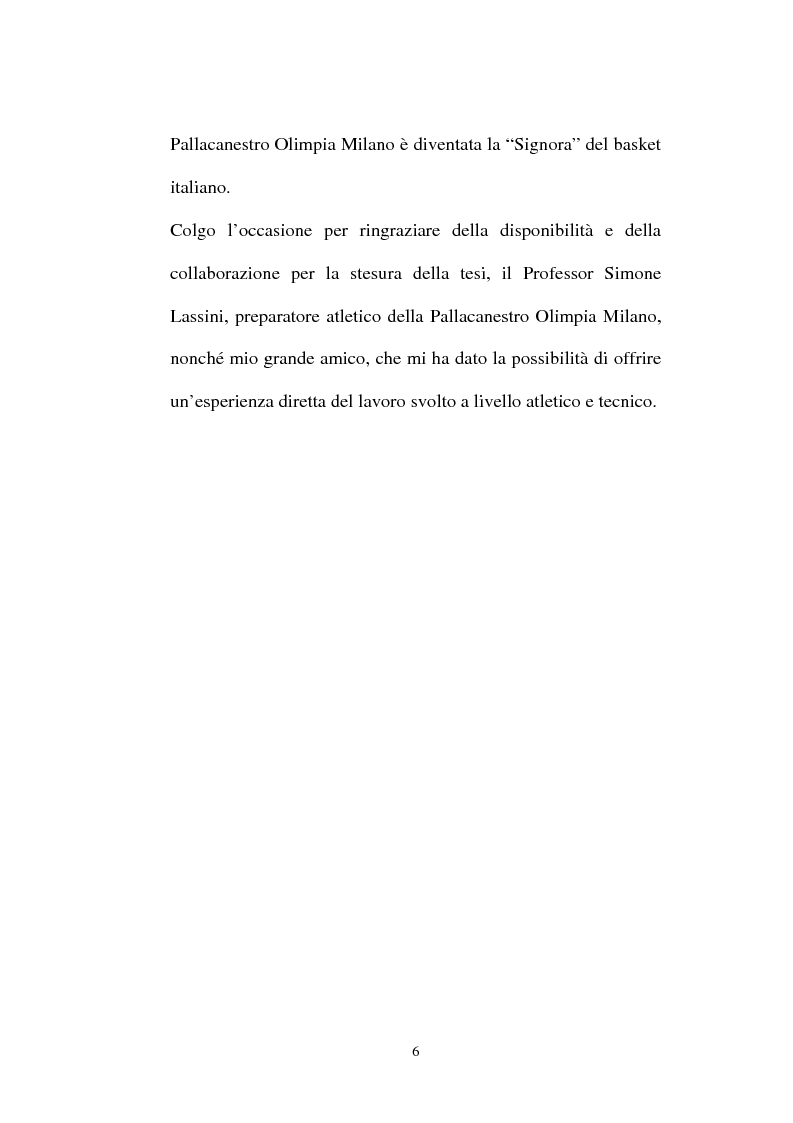 Anteprima della tesi: Pallacanestro Olimpia Milano: pianificazione e organizzazione di una stagione agonistica, Pagina 3