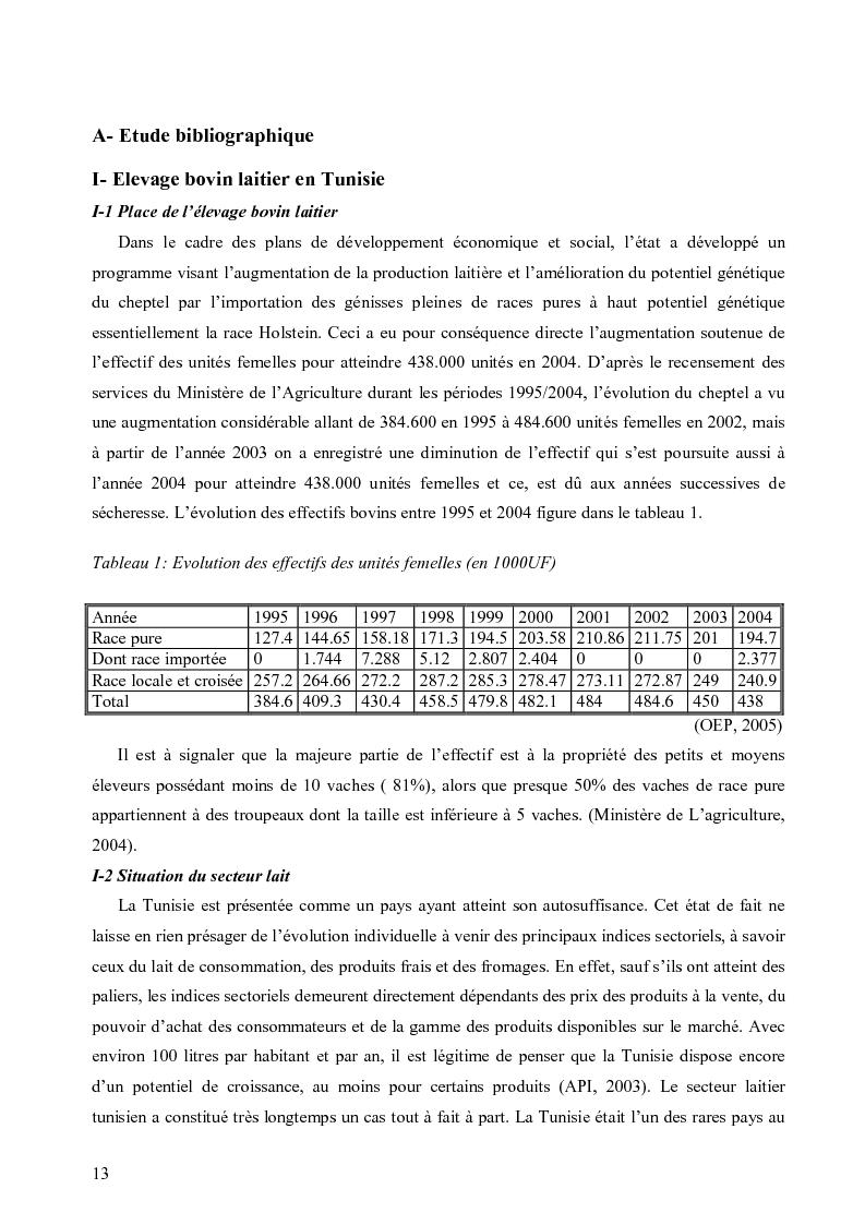 Anteprima della tesi: Evaluation de la durabilité des exploitations laitières dans le gouvernorat de Nabeul, Pagina 2