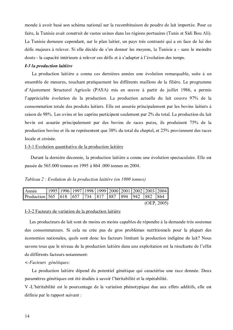 Anteprima della tesi: Evaluation de la durabilité des exploitations laitières dans le gouvernorat de Nabeul, Pagina 3