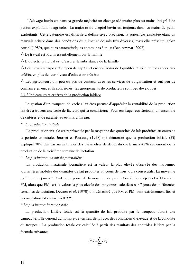 Anteprima della tesi: Evaluation de la durabilité des exploitations laitières dans le gouvernorat de Nabeul, Pagina 6