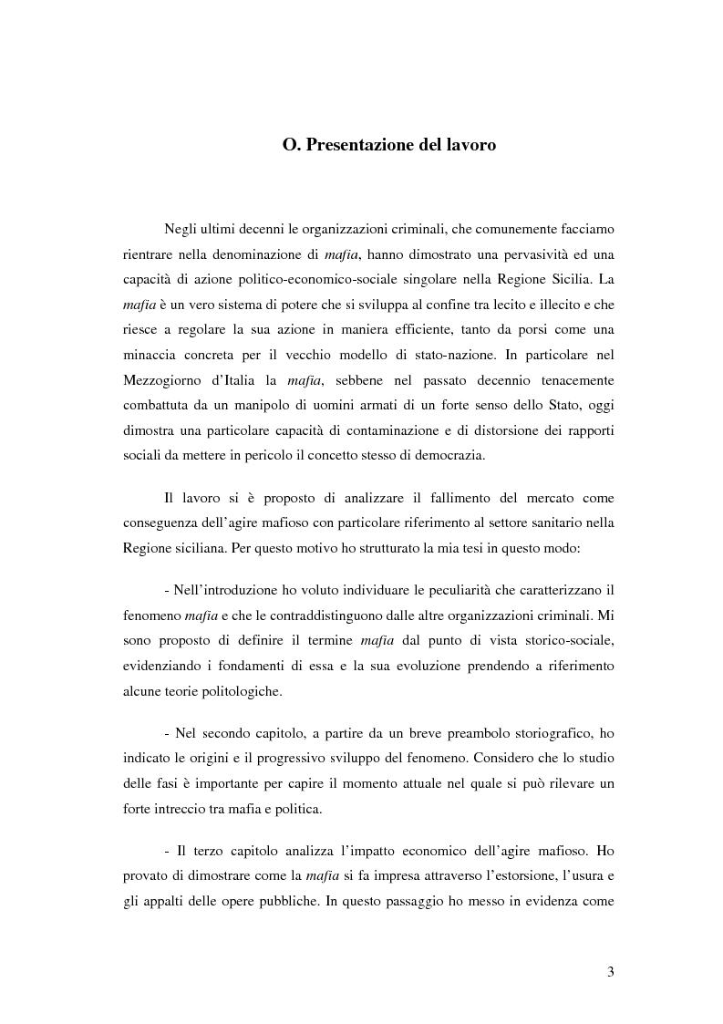 Anteprima della tesi: La mafia nel mercato sanitario, Pagina 1