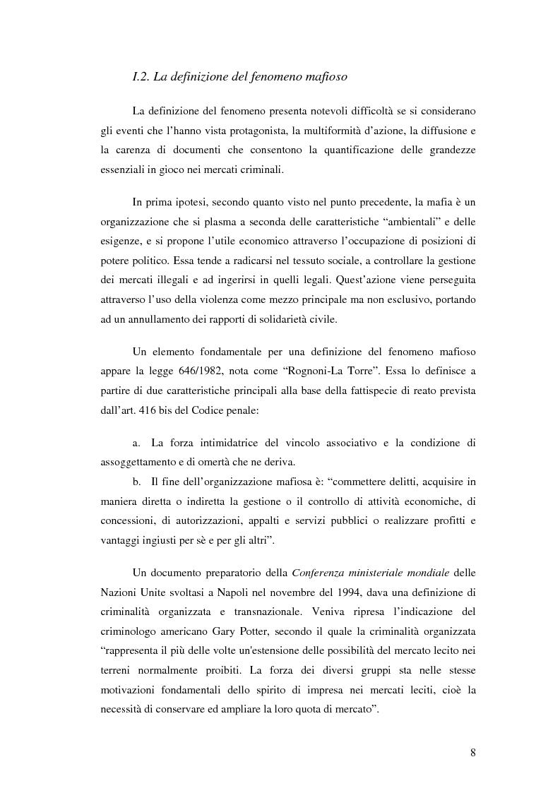 Anteprima della tesi: La mafia nel mercato sanitario, Pagina 6