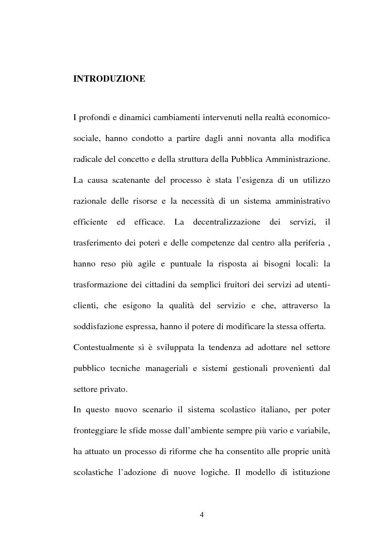 Anteprima della tesi: Il ruolo della comunicazione nelle istituzioni scolastiche, Pagina 1