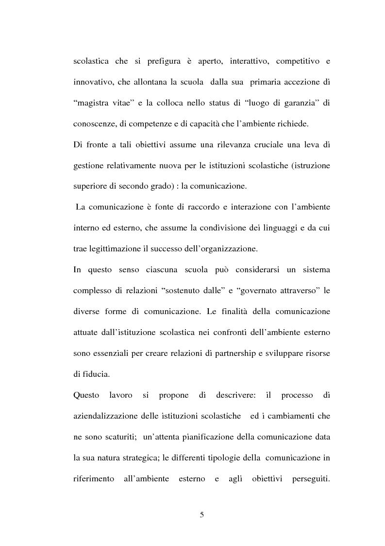 Anteprima della tesi: Il ruolo della comunicazione nelle istituzioni scolastiche, Pagina 2