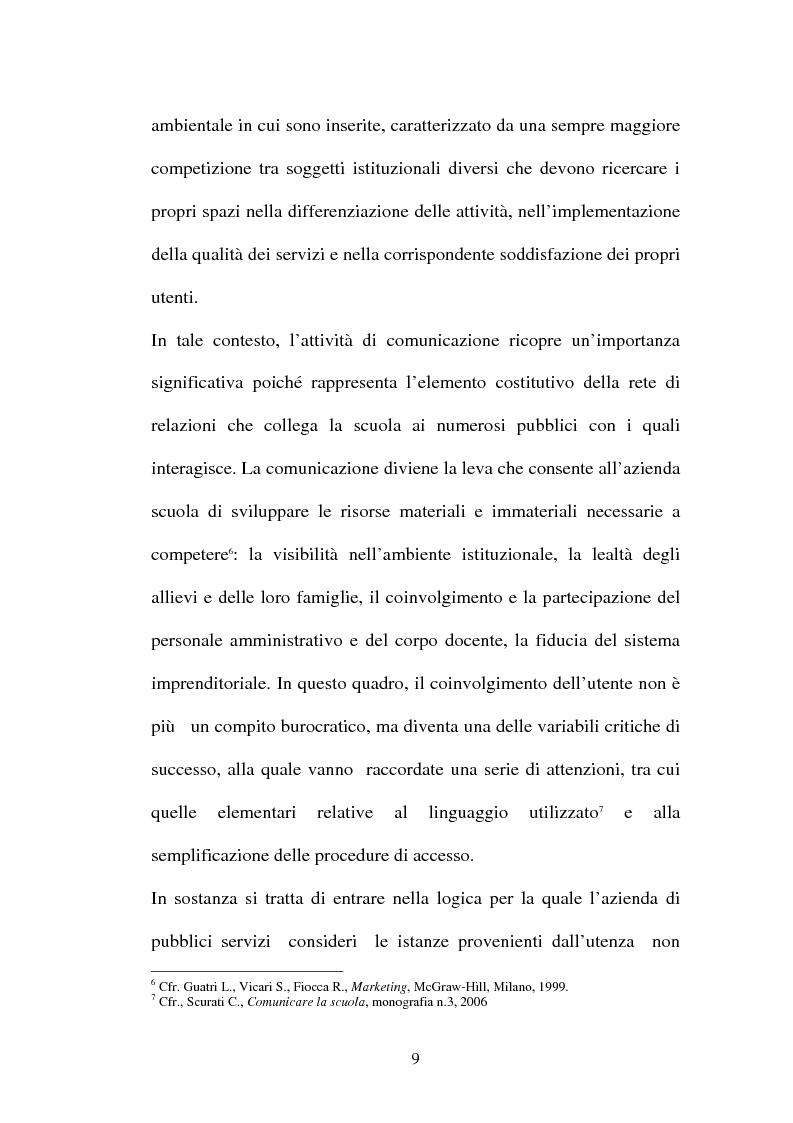 Anteprima della tesi: Il ruolo della comunicazione nelle istituzioni scolastiche, Pagina 6