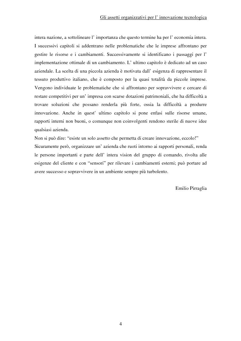 Anteprima della tesi: Gli assetti organizzativi per l'innovazione tecnologica, Pagina 2