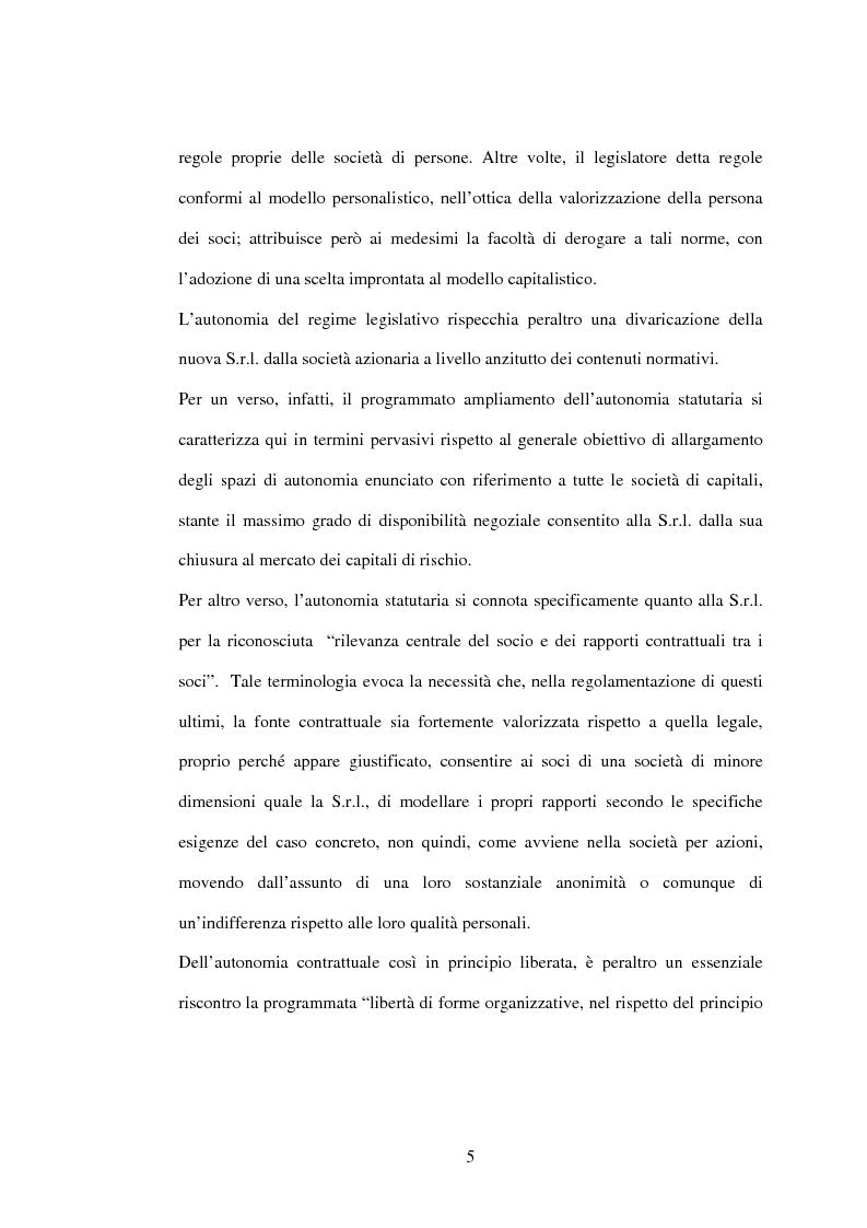 Anteprima della tesi: Il recesso dalla Srl, Pagina 5