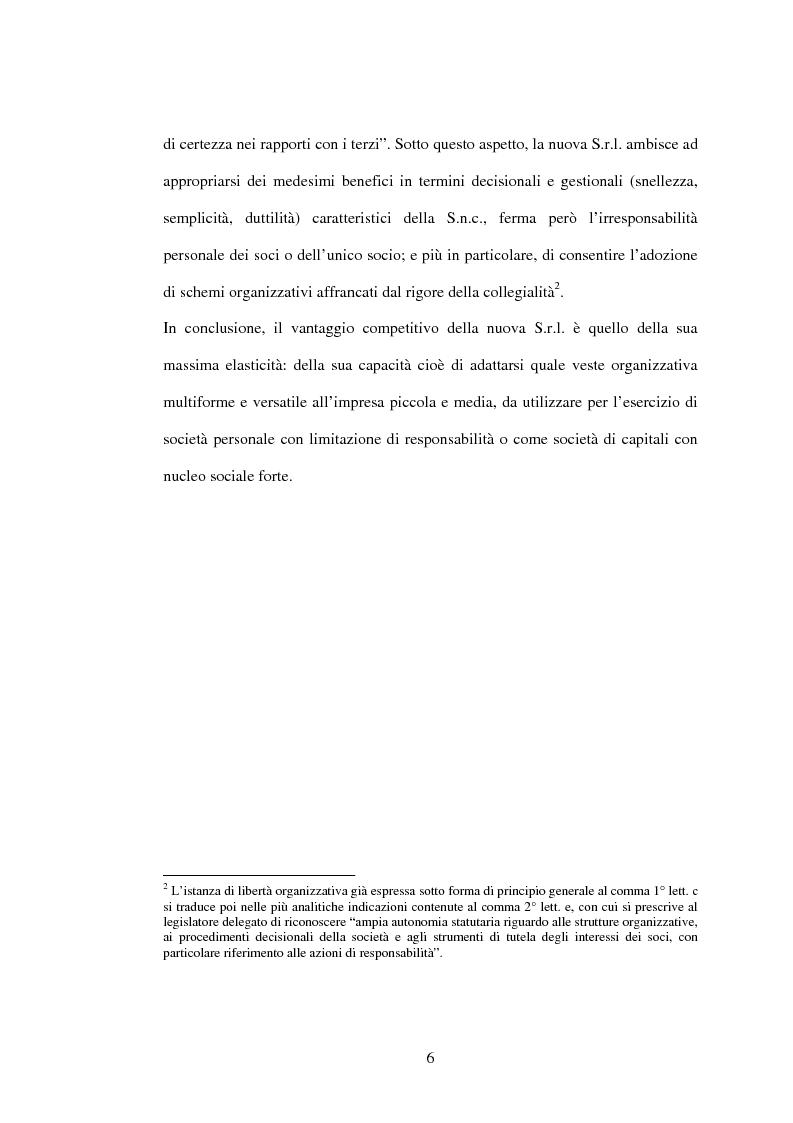 Anteprima della tesi: Il recesso dalla Srl, Pagina 6