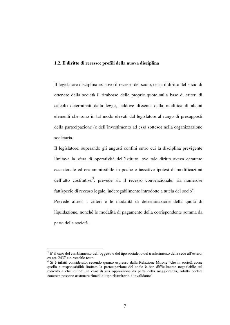 Anteprima della tesi: Il recesso dalla Srl, Pagina 7