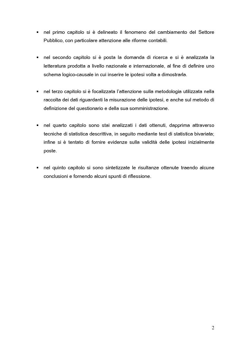Anteprima della tesi: Determinanti nei processi di innovazione contabile negli enti locali, Pagina 2