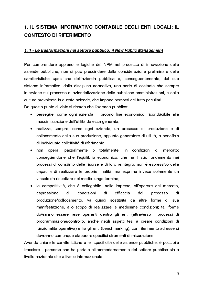 Anteprima della tesi: Determinanti nei processi di innovazione contabile negli enti locali, Pagina 3