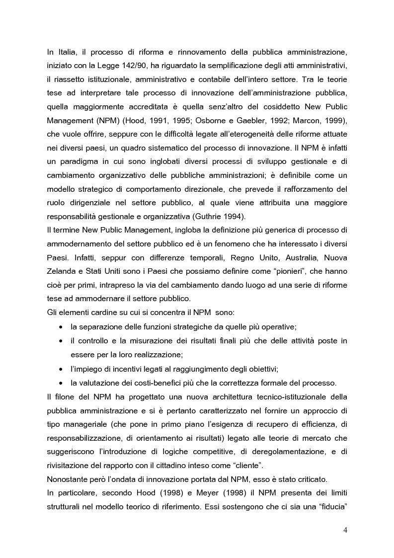 Anteprima della tesi: Determinanti nei processi di innovazione contabile negli enti locali, Pagina 4