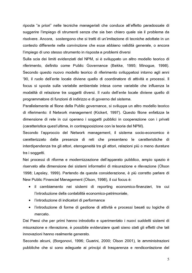Anteprima della tesi: Determinanti nei processi di innovazione contabile negli enti locali, Pagina 5