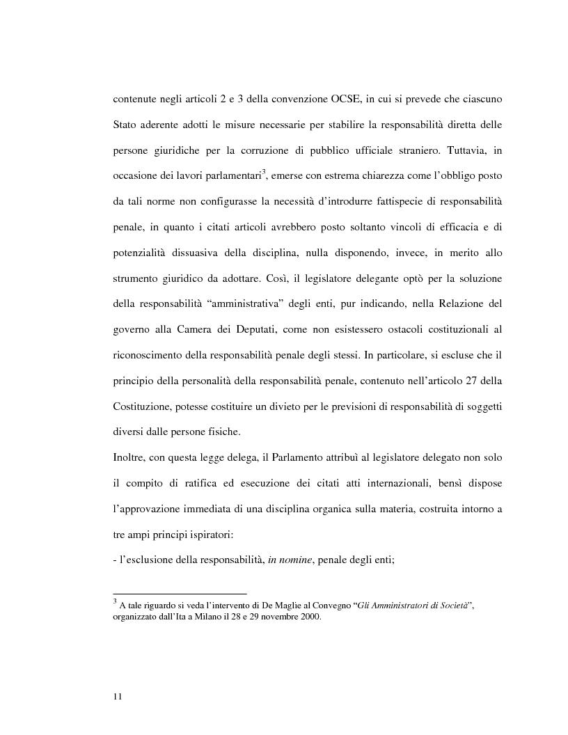 Anteprima della tesi: La responsabilità amministrativa degli enti dipendente da reato: il modello organizzativo, di gestione e di controllo, Pagina 8