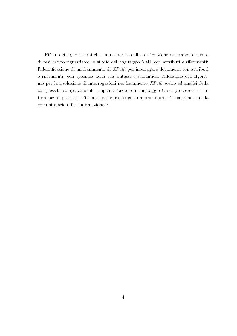 Anteprima della tesi: Risoluzione efficiente di interrogazioni XPath su documenti XML con attributi e riferimenti, Pagina 2
