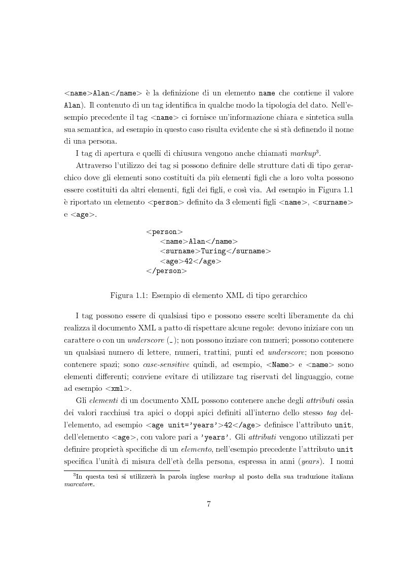 Anteprima della tesi: Risoluzione efficiente di interrogazioni XPath su documenti XML con attributi e riferimenti, Pagina 5