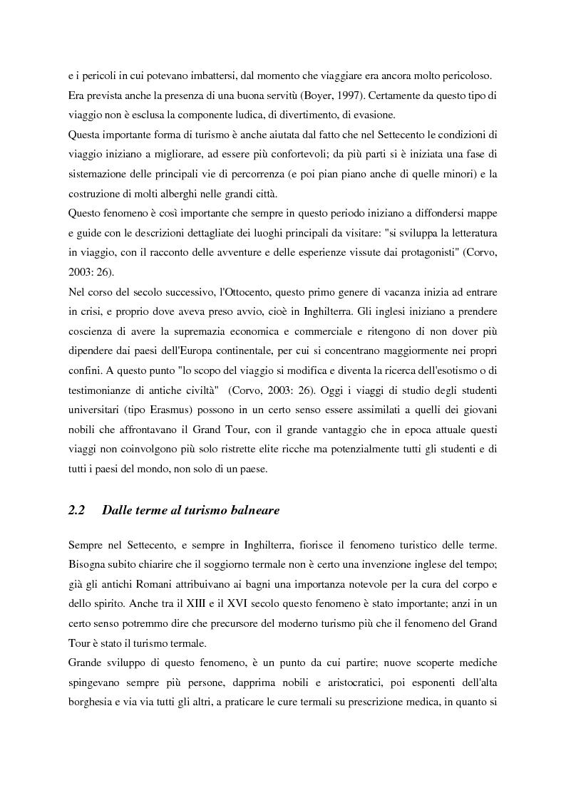 Anteprima della tesi: Evoluzione del turismo e fenomeno turistico nell'epoca della globalizzazione, con particolare attenzione agli stili turistici dei giovani, Pagina 2