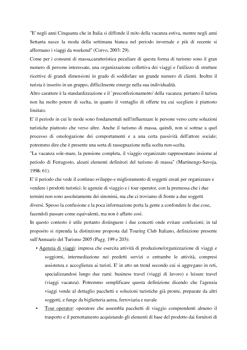 Anteprima della tesi: Evoluzione del turismo e fenomeno turistico nell'epoca della globalizzazione, con particolare attenzione agli stili turistici dei giovani, Pagina 6