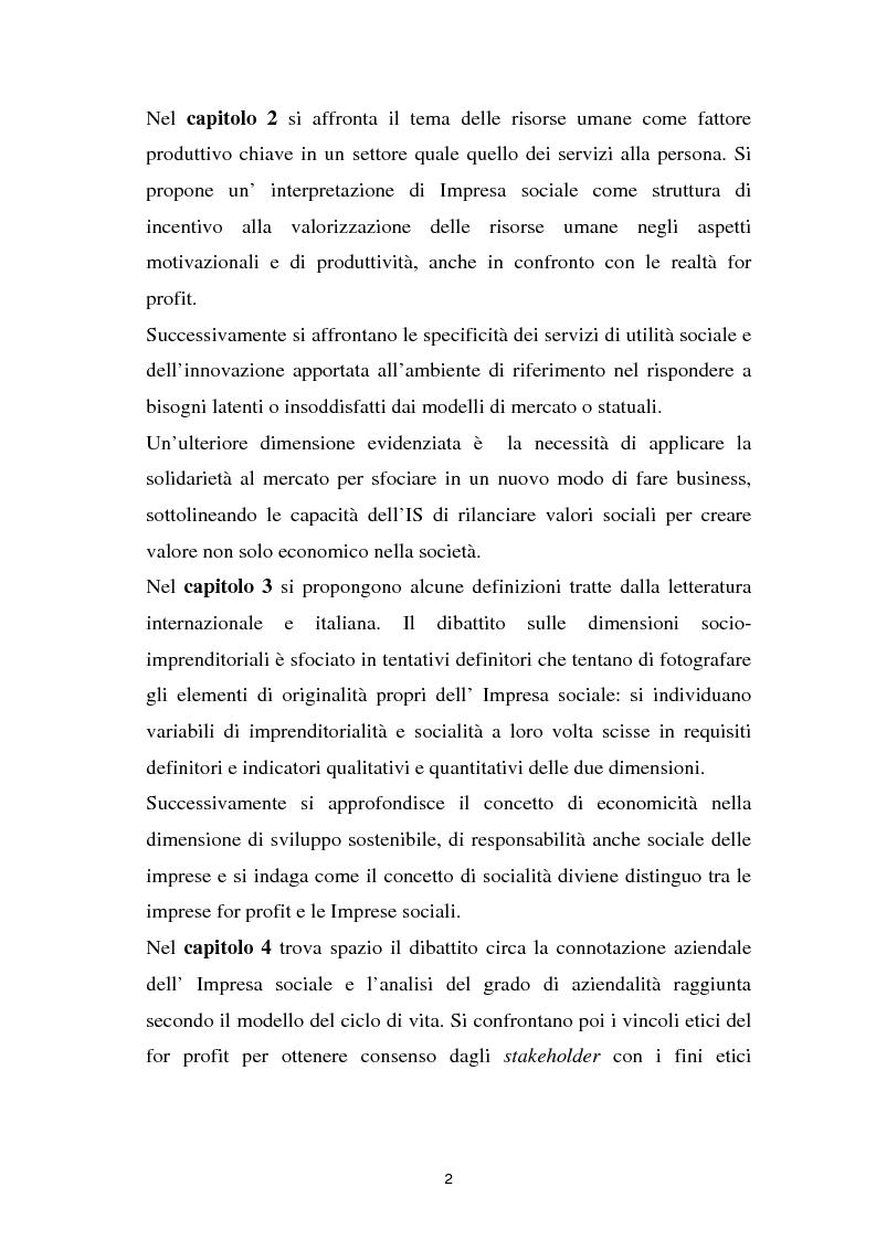 Anteprima della tesi: Alla ricerca dell'Impresa sociale, Pagina 2